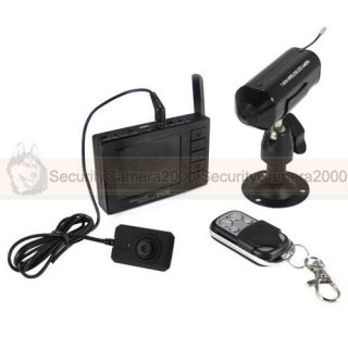 Mini 2 4GHz Wireless Mini Pinhole Camera DVR w Monitor
