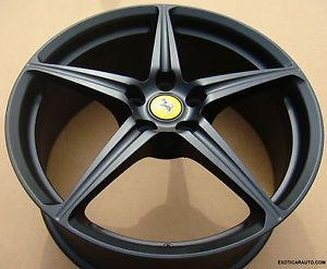 "20"" Ferrari 458 Italia Sport Forged Wheels Rims Matte Flat Black Color"