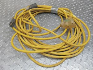 2 Single Phase 25 Foot Approx Extension Cords with 1 3 Way Outlet