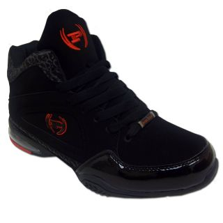 Phat Farm Block P Mens Black Athletic Comfort Lace Up Basketball Shoe