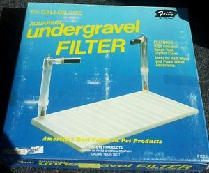 5 or 5 1 2 Gallon Fish Tank Undergravel Aquarium Filter New by Fritz
