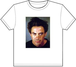 Robert Downey Jr Mug Shot T Shirt Tee Picture Photo MUGSHOT Iron Man Stark 977