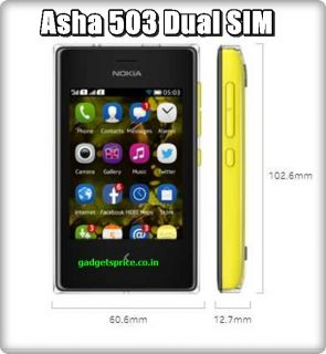 "Newly Launched Nokia Asha 503 Unlocked Dual Sim 3"" 5MP Mobile Phone SHIP by DHL"