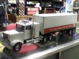 2' Foot Long State Farm Nylint 18 Wheeler Steel Toy Truck Trailer