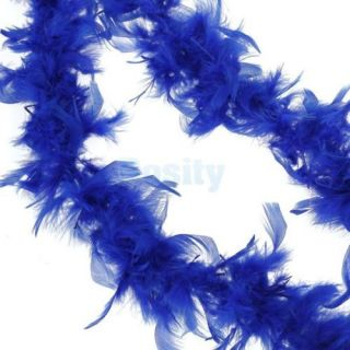 3X 2M Feather Boa Fluffy Craft Decoration Princess Costume Dress Up Royal Blue