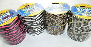 8 Lot Roll Zebra Leopard Print Pattern Duct Duck Tape 10ft Animal Giraffe
