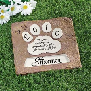 Personalized Pet Memorial Stepping Stone for Dog or Garden Pet Monument for Dog