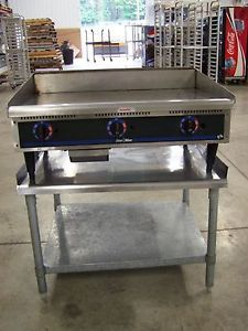 "Star Max 36"" Gas Griddle with Table Fryer Grill"