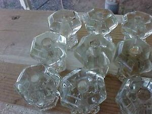 19ANTIQUE Art Deco Vintage Glass Drawer Pulls Cabinet Dresser Door Knobs