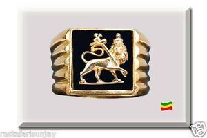 Lion of Judah Gold Plated Sterling Silver Ring