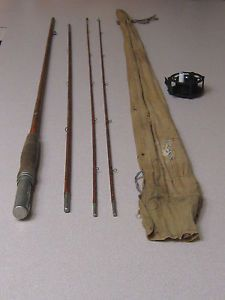 Vintage Fishing Montague Fly Rod Reel 9 Feet 4 inches Long with Cloth Case