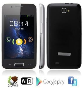 "New Black Unlocked GSM 4"" Touch Screen Android 4 Cell Phone ATT T Mobile Simple"