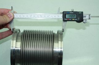 MKS Flexible Stainless Steel High Vacuum Tubing ISO K DN 100 Bore 140mm Long