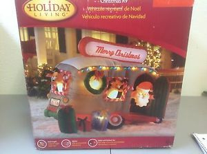 New Gemmy Airblown Inflatable Christmas 9 5ft Long Animated Santa in RV 82573