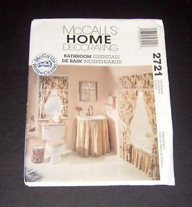 McCall's Home Decorating Pattern 2721 Bathroom Items