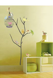 Tree Bird Point Decor Decal Sticker Self Adhesive Sheet Nature Wall Wallpaper
