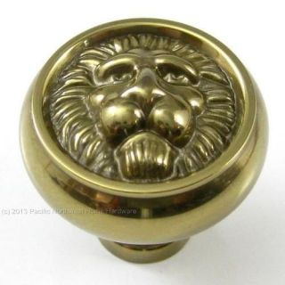 Belwith Hickory F102 Lion Face Solid Brass Cabinet Knob Sherwood Antique Brass