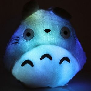 New Popular Totoro Shape LED Light Up Colorful Pillow for Kids Home Decor