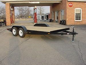16ft 7000 lbs G V w Wood Deck Car Hauler Trailer w Removable Fenders
