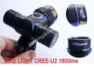 New Ultra Bright CREE XML U2 LED Bicycle Light 1800 Lumen T6 Upgrade