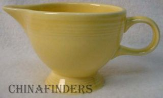 Homer Laughlin China Fiesta Contemporary Yellow Creamer Cream Pitcher Jug