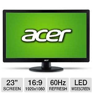 "Acer s S230HL Abii 23"" Widescreen LED LCD Monitor 2 HDMI Inputs Slim"