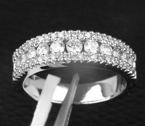 Mens 14k White Gold Diamond Wedding Band