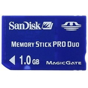 Genuine SanDisk 1GB Memory Stick Pro Duo Card for PSP or Digital Camera