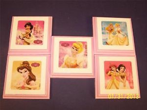 Disney Princess Decor Wall Plaques Signs Hangings Kids Bedding