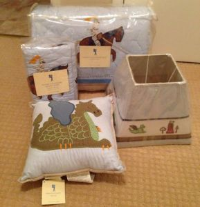 BNIP Pottery Barn Kids Knights Adventure Twin Quilt Bedding Set