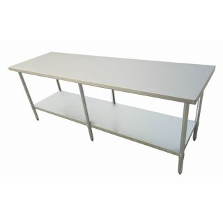 "New Commercial Stainless Steel Kitchen Prep Work Table 30"" x 84"" NSF"
