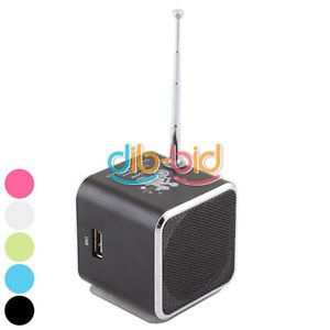 Portable Mini Rechargeable USB TF Card Speaker  Music Sound Box w FM Radio