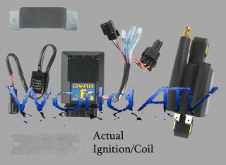 Dynatek Dyna Ignition CDI Black Rev Box Coil Kit Kawasaki KFX400 KFX