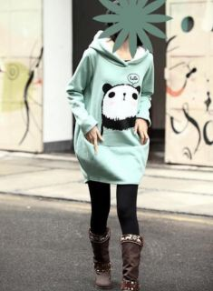 Fashion Korean Fleece Sweatshirt Cute Panda Hoodie Loose Ladies Coat Jacket C45