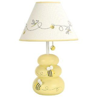Carter's Bumble Bee Hive Dragonfly Yellow Lamp Base Shade Baby Nursery Lamp