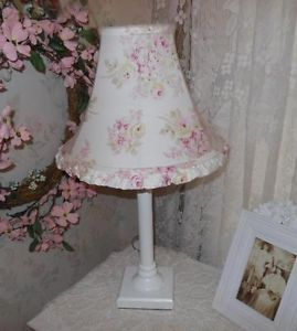 Rachel Ashwell Blush Beauty Rose Blossom Lamp Shade White Base Shabby Chic