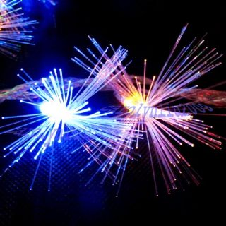 10M LED Multi Color Optic Fiber Party Favor String Light Christmas Outdoor