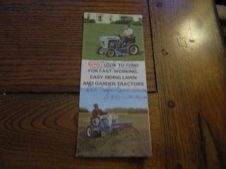 Small Brochure Ford Lawn Tractor and Garden Equipment
