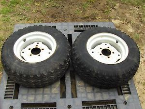 Ford Jacobsen 120 Lawn Garden Tractor Rear Tires and Wheels