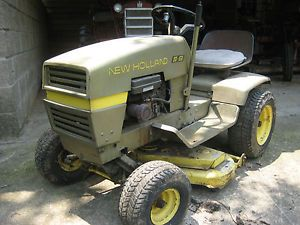 Vintage New Holland s 8 Riding Lawn Mower Garden Tractor Low Hours Racing