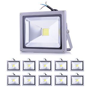 10x 20W Day White LED Wall Pack Wash Flood Light Lamp Garden Outdoor Light IP65