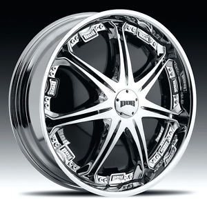 "24"" Dub Spin Stallion Wheel Set 24x9 Chrome Spinner Rims for rwd 5 6 Lug"
