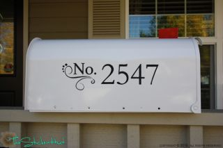Your Address Mailbox Vinyl Decals Stickers 1017