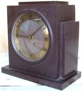 Vintage Antique Art Deco Bakelite Telephone Mfg Co Mantel Mantle Clock 2 Restore