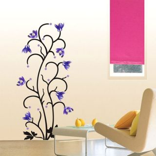 Purple Flower Wall Window Door Decals Stickers PS58047