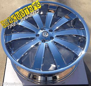 "26"" inch Versante Rims Wheels Tires VW225 5x150 Chrome Lexus LX470 2006 2007"