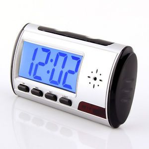 Mini Spy Clock Security Hidden Alarm Clock DVR Camera Motion Detector 30 FPS