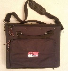 Gator Rack Bag 2U 2 Space Lightweight Case Heavy Duty Aluminum Frame