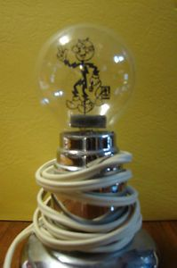 RARE Antique Redi Reddy Kilowatt Unique Light Bulb Night Light