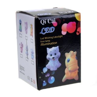 Cute Tiger Shape 7 Color Changing LED Small Night Light Lamp